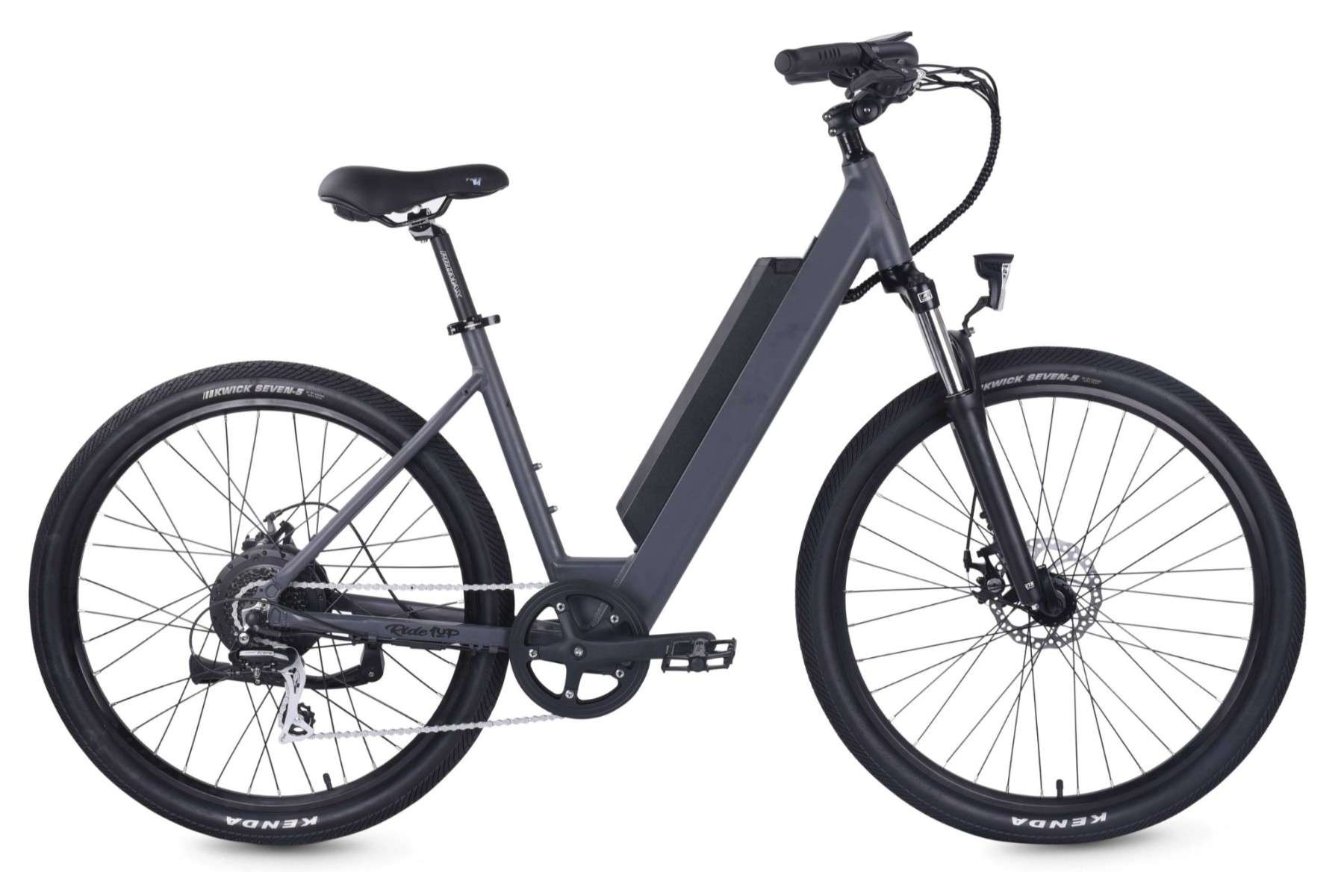 electric low step through bike by Ride1UP